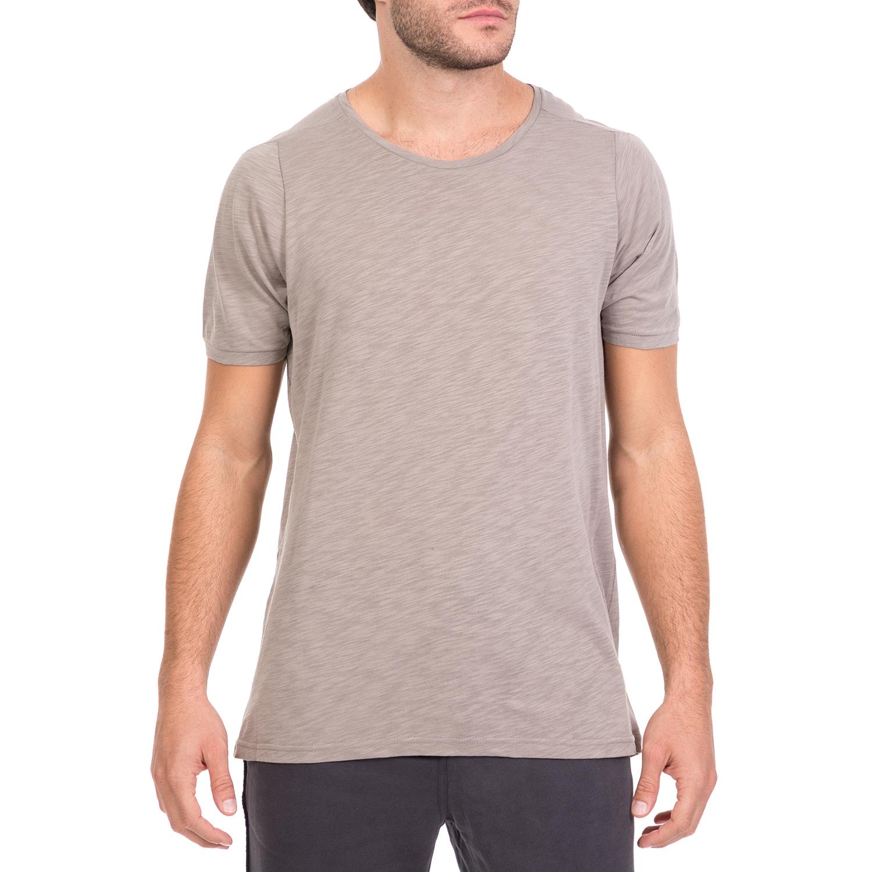 DIRTY LAUNDRY - Ανδρική κοντομάνικη μπλούζα BACK STITCHES γκρι