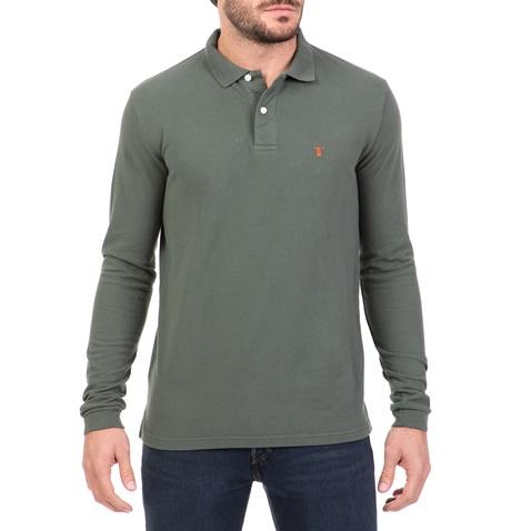 Ανδρική μακρυμάνικη πόλο μπλούζα HAMPTONS χακί (1722748.0-x2x4 ... 9d22859fa2a