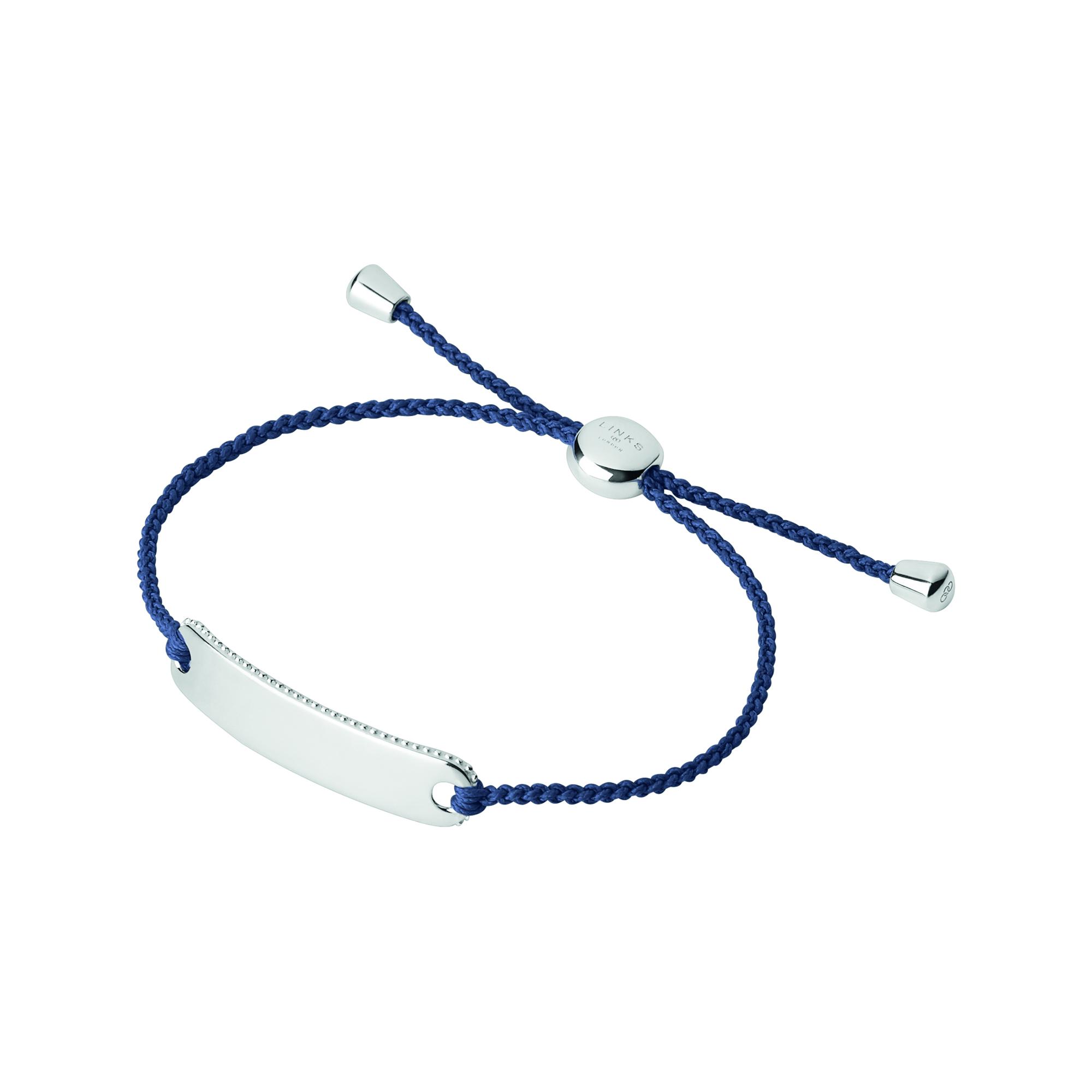 LINKS OF LONDON - Ασημένιο βραχιόλι Outlet Amulet μπλε γυναικεία αξεσουάρ κοσμήματα βραχιόλια