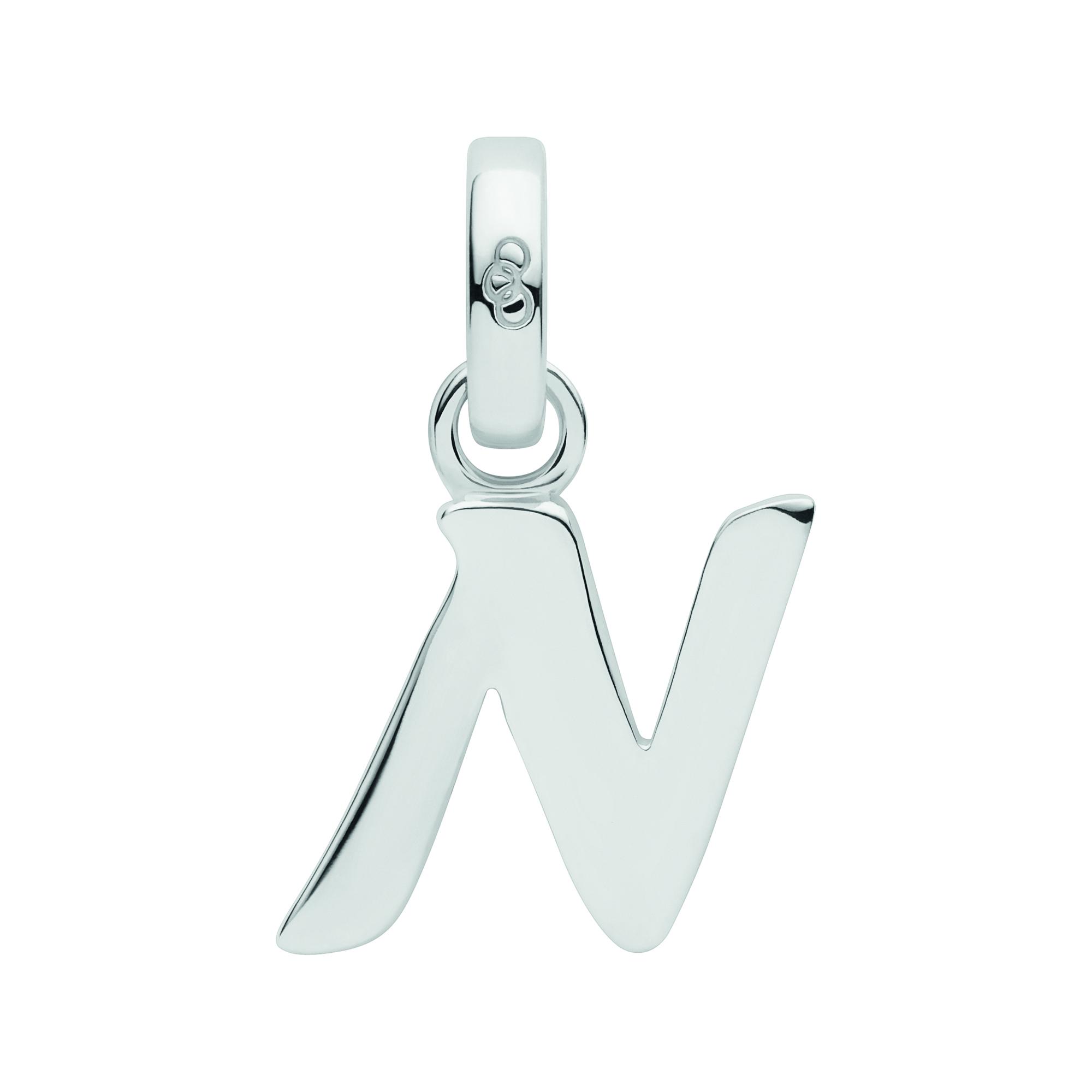LINKS OF LONDON - Ασημένιο γούρι Alphabet Charms N γυναικεία αξεσουάρ κοσμήματα παντατίφ