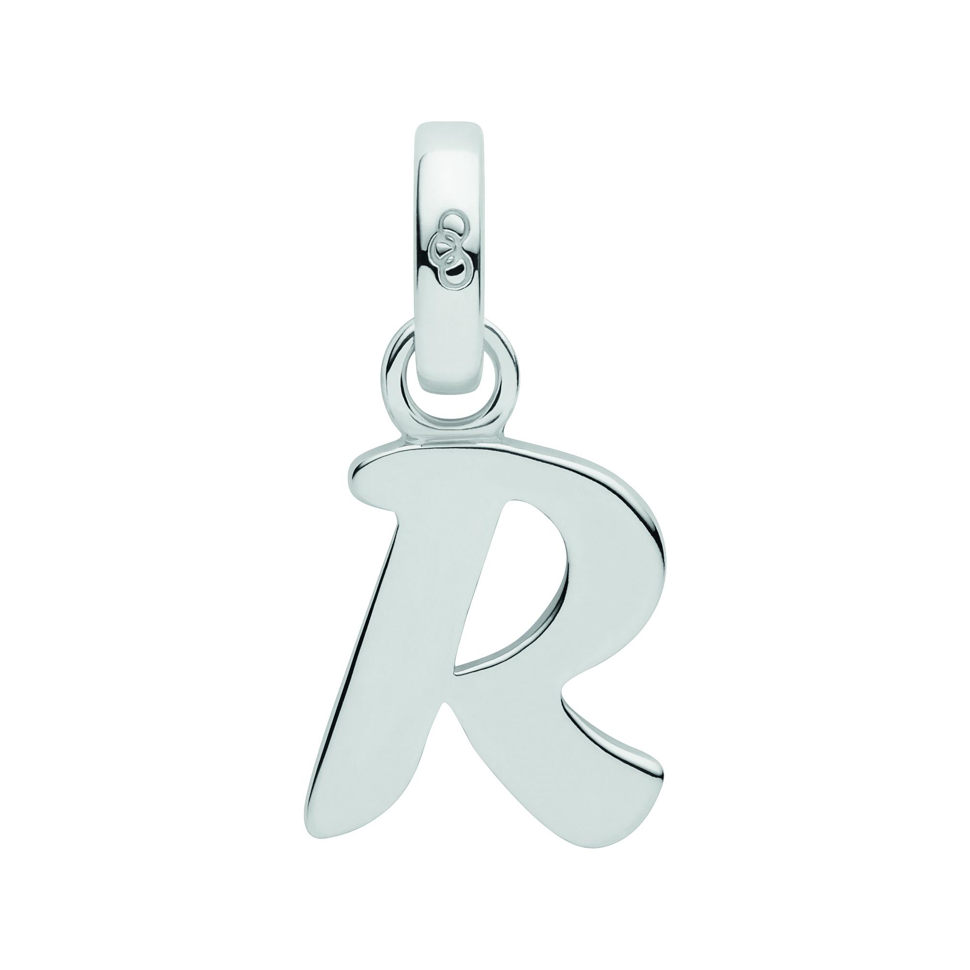 LINKS OF LONDON - Ασημένιο γούρι Alphabet Charms R γυναικεία αξεσουάρ κοσμήματα παντατίφ