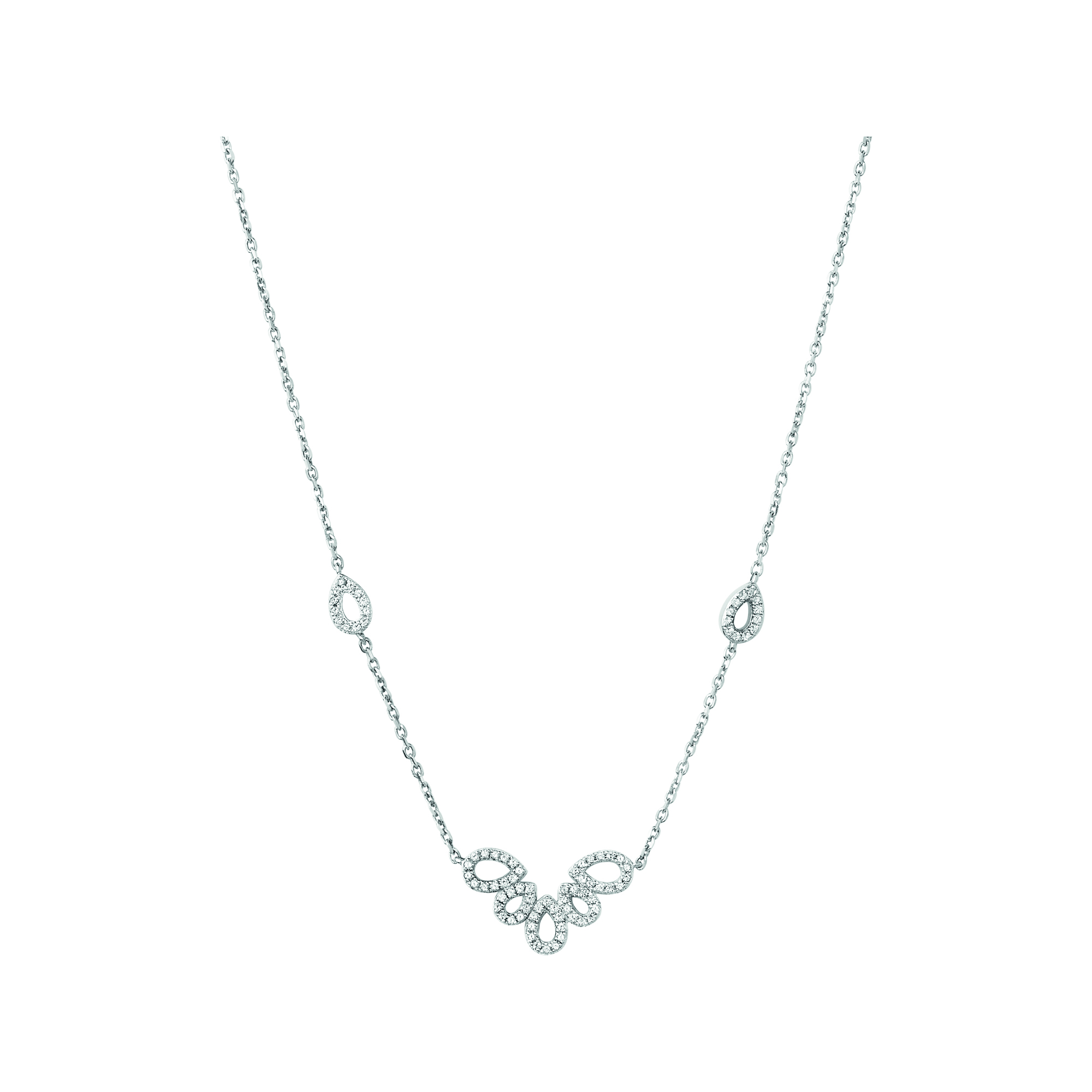 LINKS OF LONDON - Ασημένιο κολιέ Outlet Peardrops γυναικεία αξεσουάρ κοσμήματα κολιέ