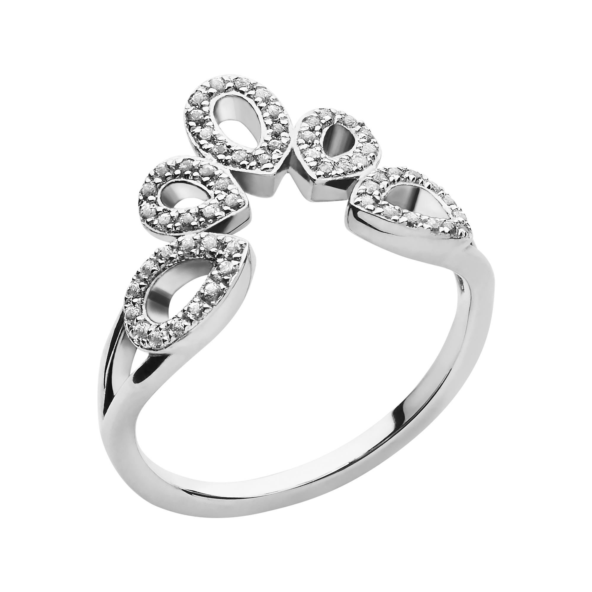 LINKS OF LONDON - Ασημένιο δαχτυλίδι Peardrops -μέγεθος 53