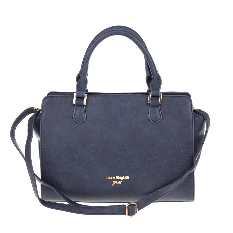 LAURA BIAGIOTTI - Γυναικεία τσάντα χειρός LAURA BIAGIOTTI μπλε γυναικεία αξεσουάρ τσάντες σακίδια χειρός