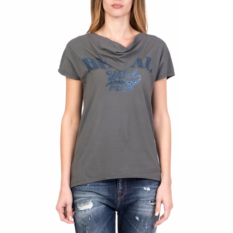 STAFF – Γυναικεία κοντομάνικη μπλούζα WENDY STAFF γκρι 1b1d9677a9c