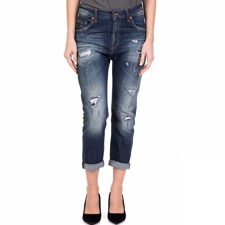 STAFF – Γυναικείο τζιν παντελόνι ALEXIA STAFF μπλε με ξεβάμματα 7b26e012692