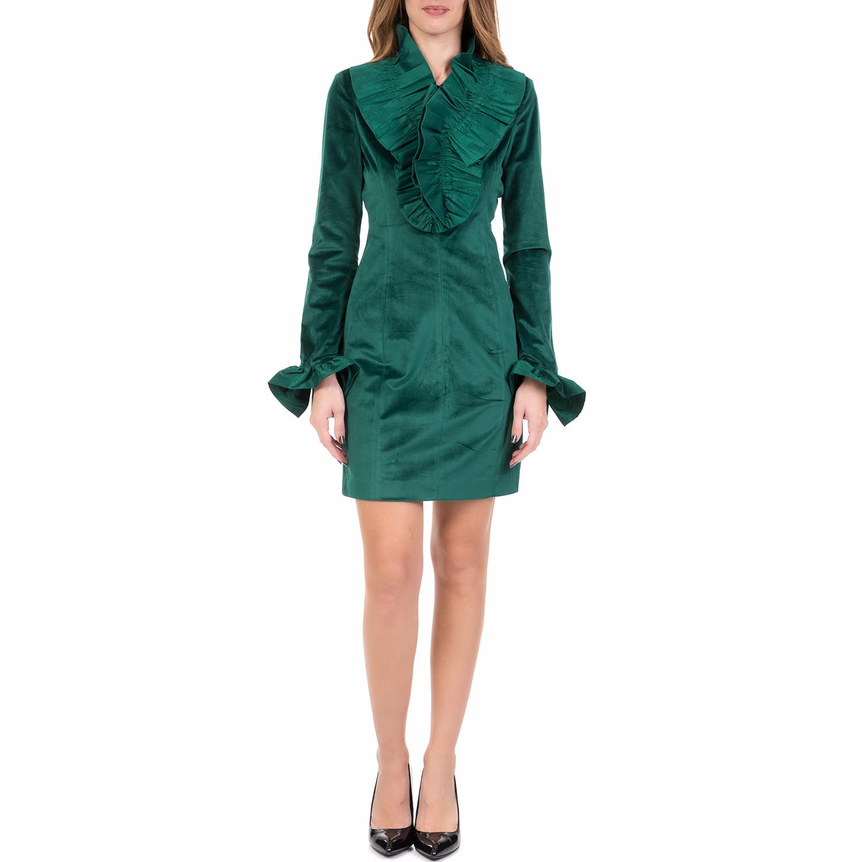 SILVIAN HEACH - Γυναικείο μίνι φόρεμα με βολάν MONTERREY SILVIAN HEACH πράσινο γυναικεία ρούχα φορέματα μίνι