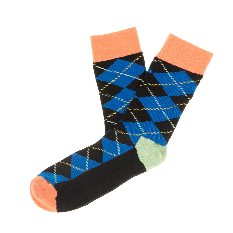 HAPPY SOCKS - Unisex κάλτσες με ρόμβους HAPPY SOCKS μαύρες-μπλε γυναικεία αξεσουάρ κάλτσες