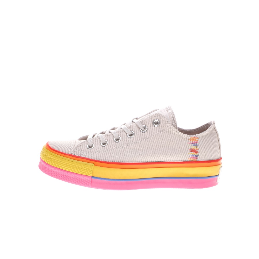 CONVERSE – Γυναικεία sneakers CONVERSE CHUCK TAYLOR ALL STAR LIFT εκρού