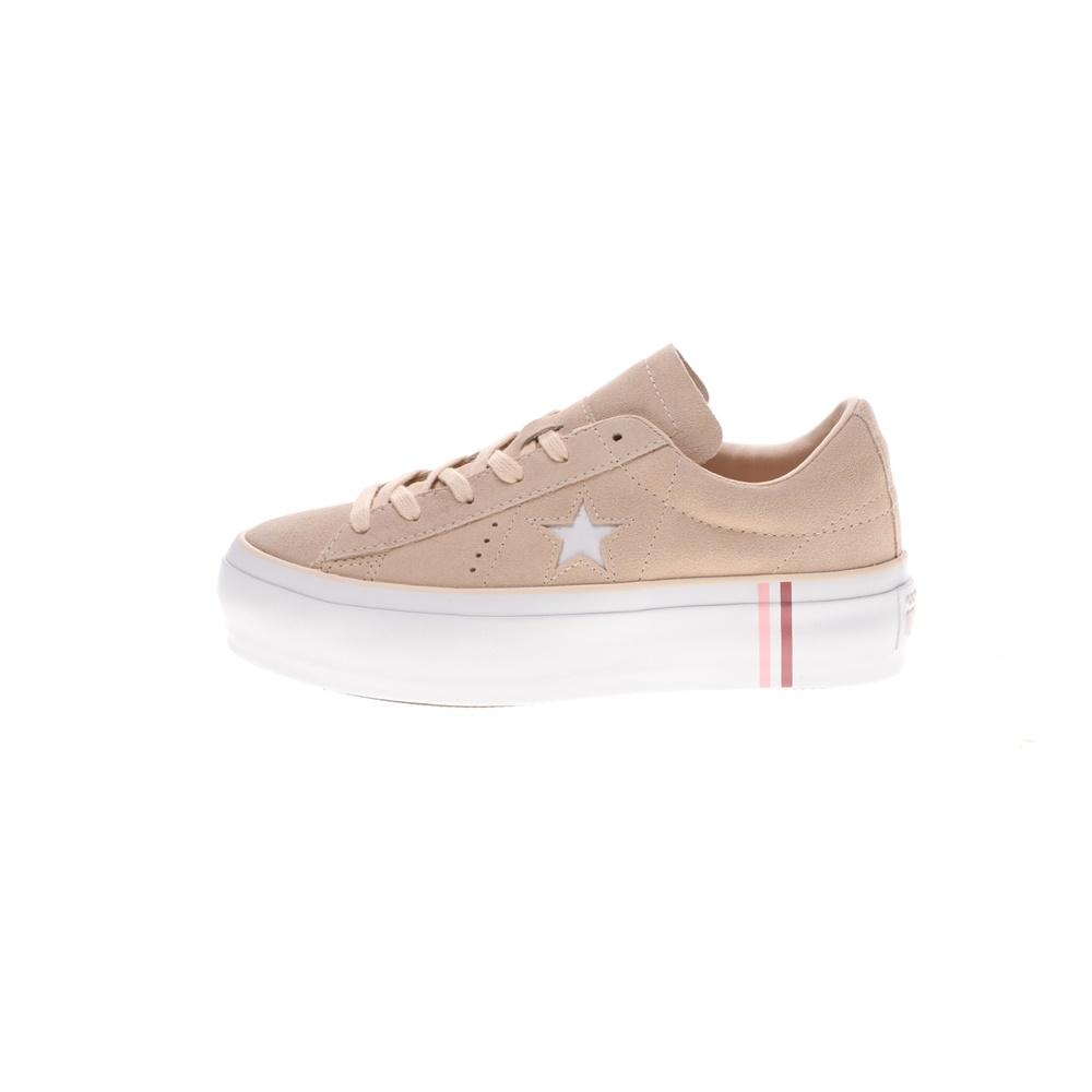 CONVERSE – Γυναικεία sneakers ONE STAR PLATFORM μπεζ καφέ