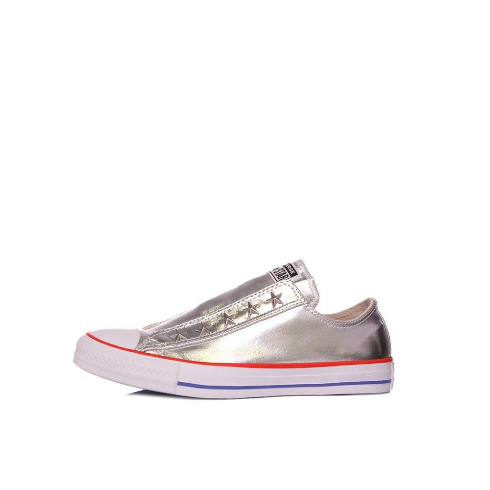 CONVERSE – Γυναικεία sneakers CONVERSE CHUCK TAYLOR ALL STAR SLIP ασημί