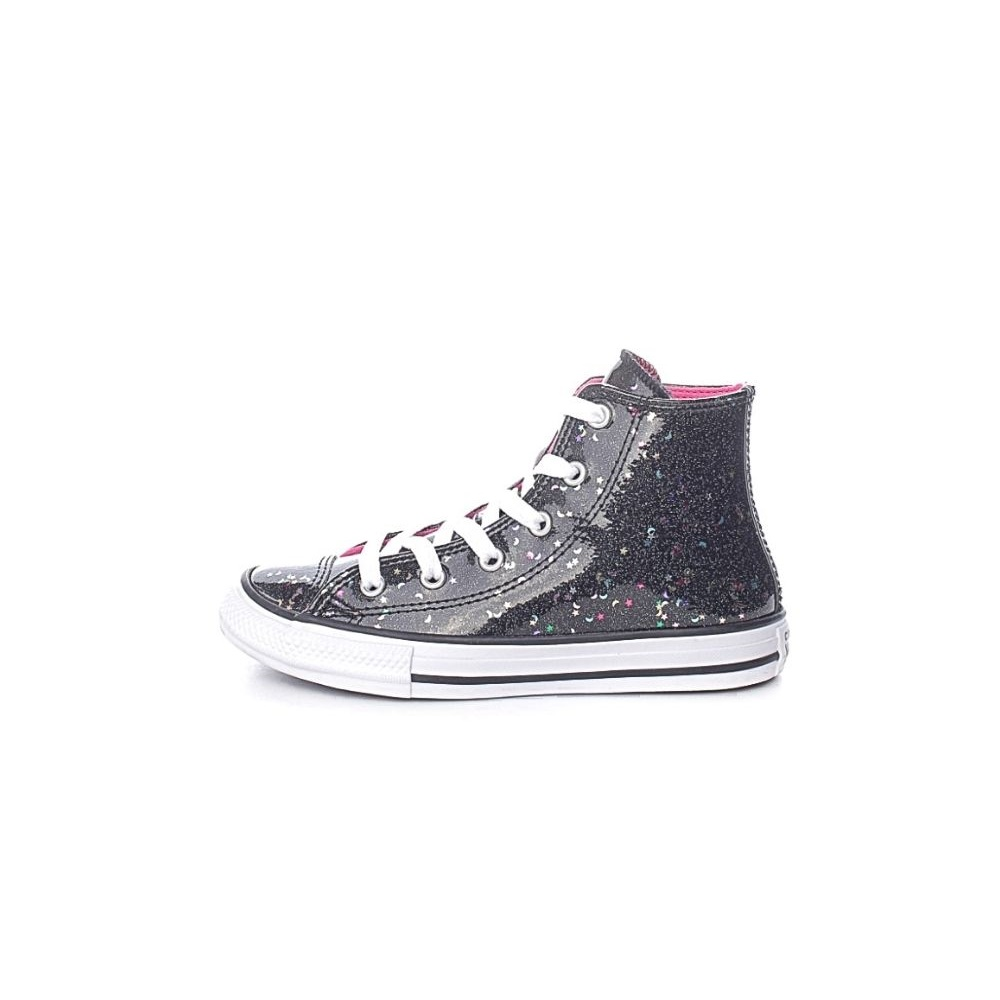 CONVERSE – Παιδικά μποτάκια sneakers CONVERSE CHUCK TAYLOR ALL STAR μαύρα