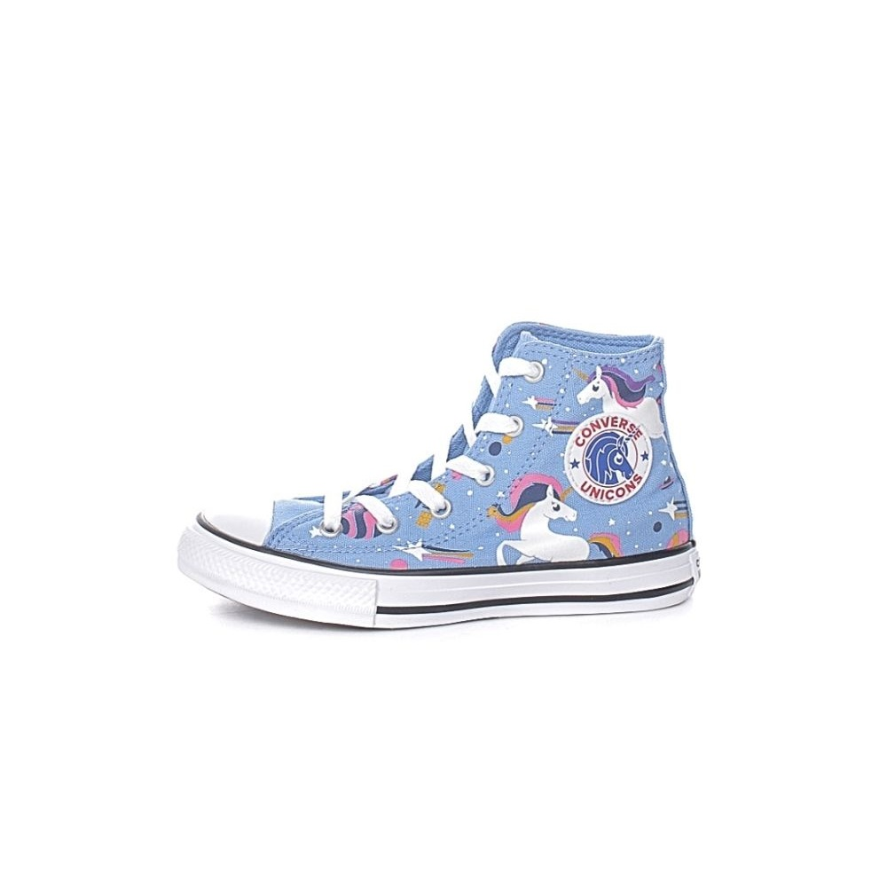 CONVERSE – Παιδικά μποτάκια sneakers CONVERSE CHUCK TAYLOR ALL STAR μπλε