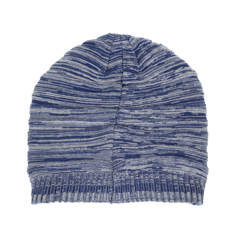 DEVERGO JEANS - Ανδρικός πλεκτός σκούφος DEVERGO μπλε ανδρικά αξεσουάρ καπέλα σκούφοι