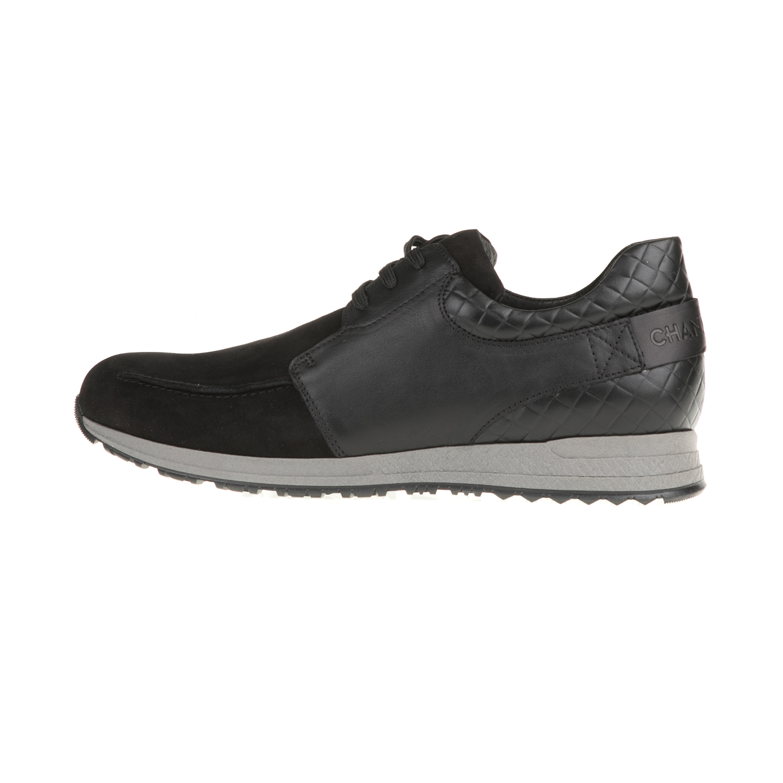 CHANIOTAKIS – Ανδρικά δερμάτινα sneakers SNEAKER CHANIOTAKIS μαύρα 125 571223221f2