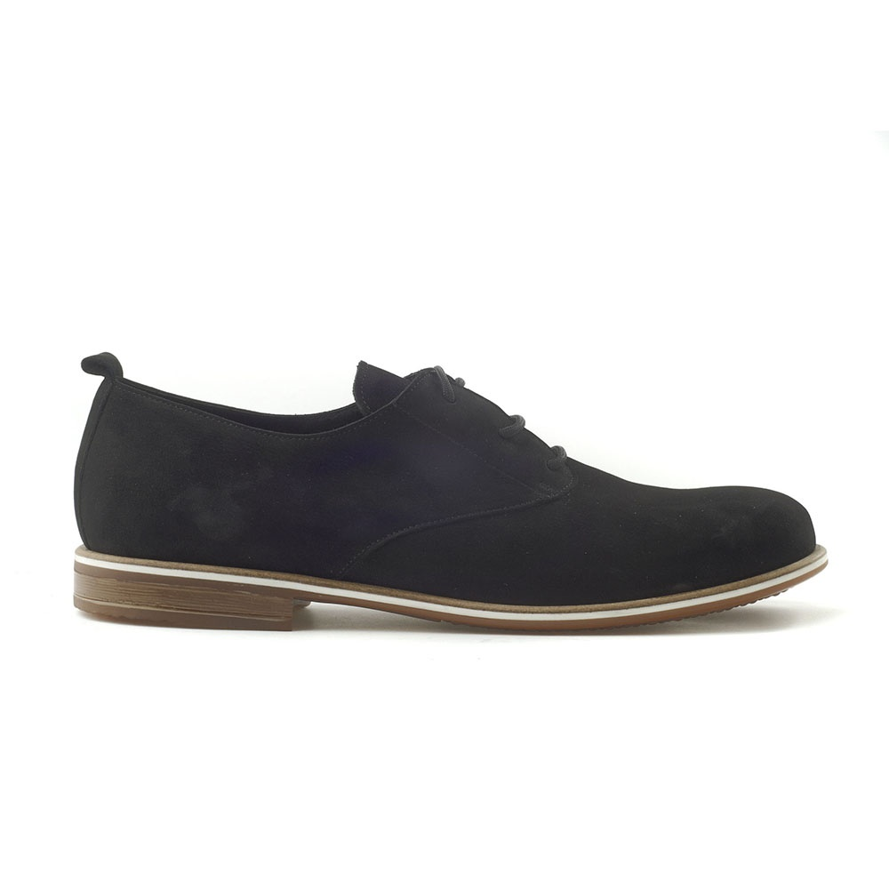 CHANIOTAKIS – Ανδρικά δετά παπούτσια CHANIOTAKIS NUBUK μαύρα. Factoryoutlet 1e03733e5cd