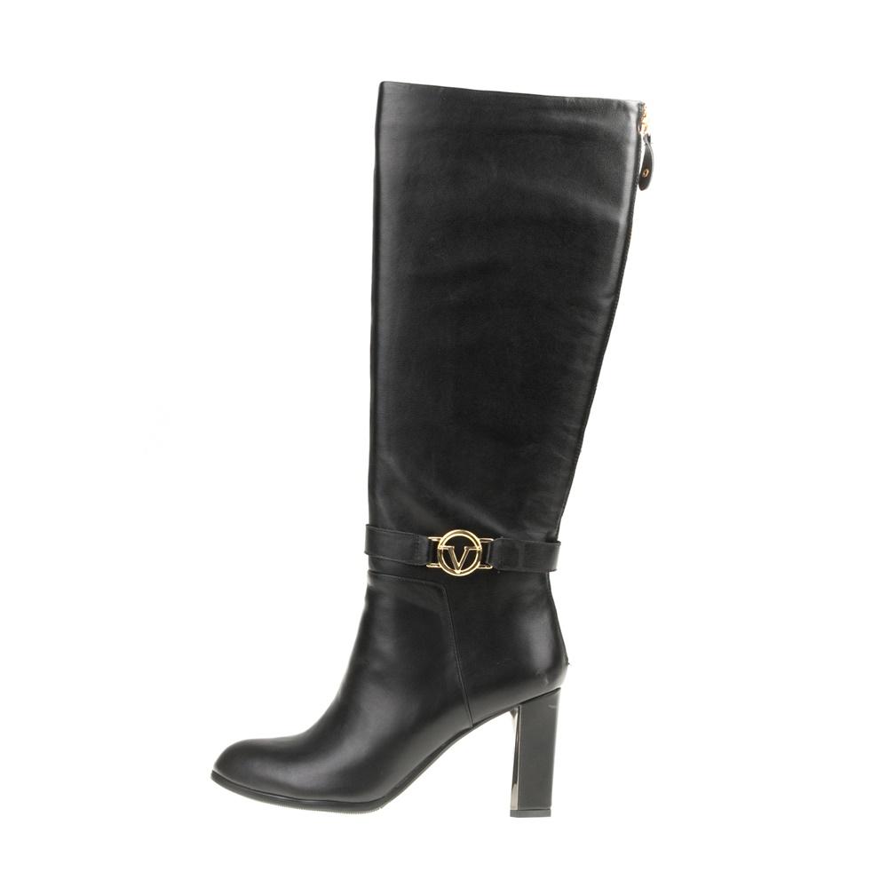 19V69 VERSACE 19.69 – Γυναικείες ψηλοτάκουνες μπότες 19V69 VERSACE 19.69 μαύρες