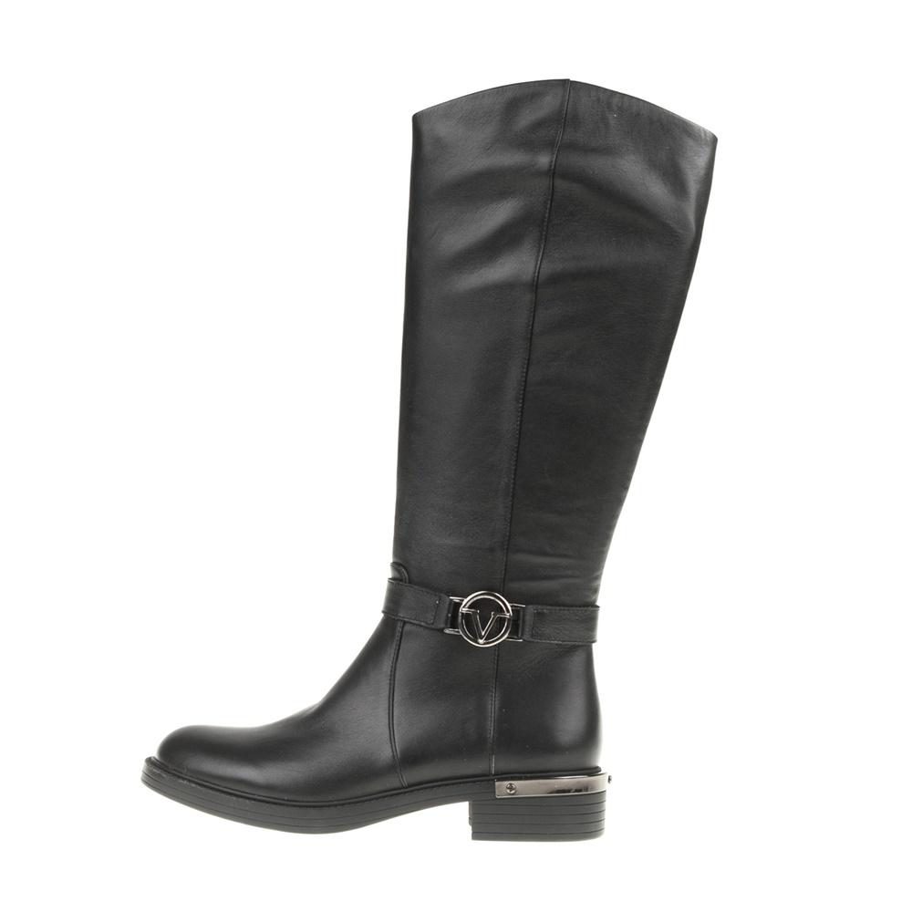 VERSACE 19V69 ABBIGLIAMENTO SPORTIVO SRL – Γυναικείες φλατ μπότες RIDING μαύρες