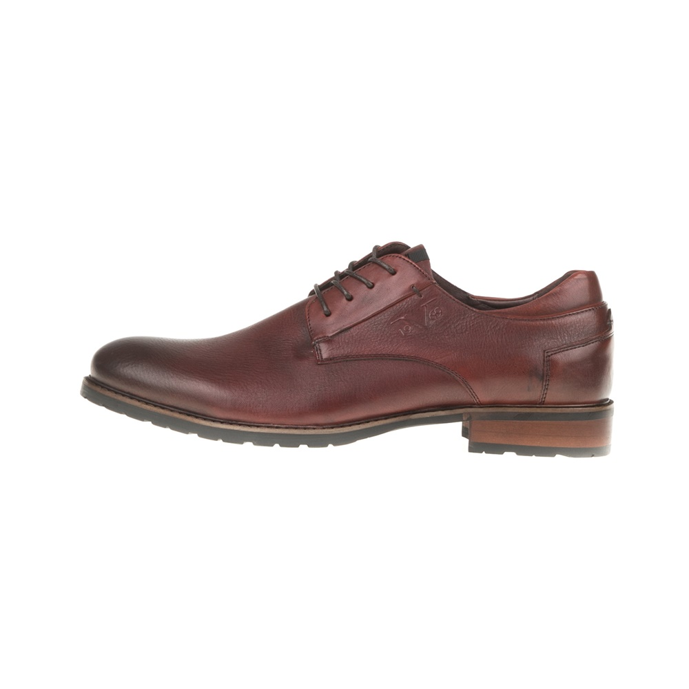 19V69 VERSACE 19.69 - Ανδρικά δετά παπούτσια BROGUE 19V69 VERSACE 19.69 μπορντό ανδρικά παπούτσια δετά επίσημα