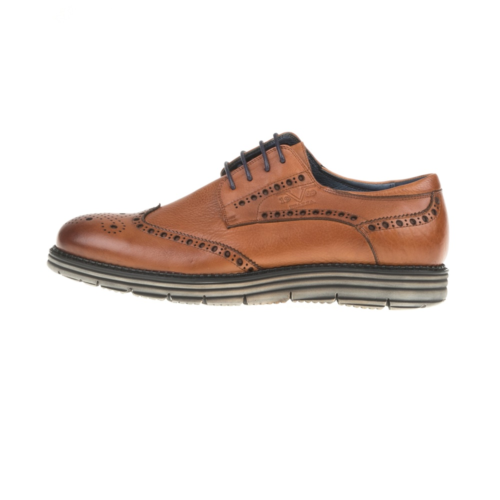 19V69 VERSACE 19.69 – Ανδρικά δετά παπούτσια BROGUE WAXED 19V69 VERSACE  19.69 καφέ-μαύρα 5a3c77de7b9