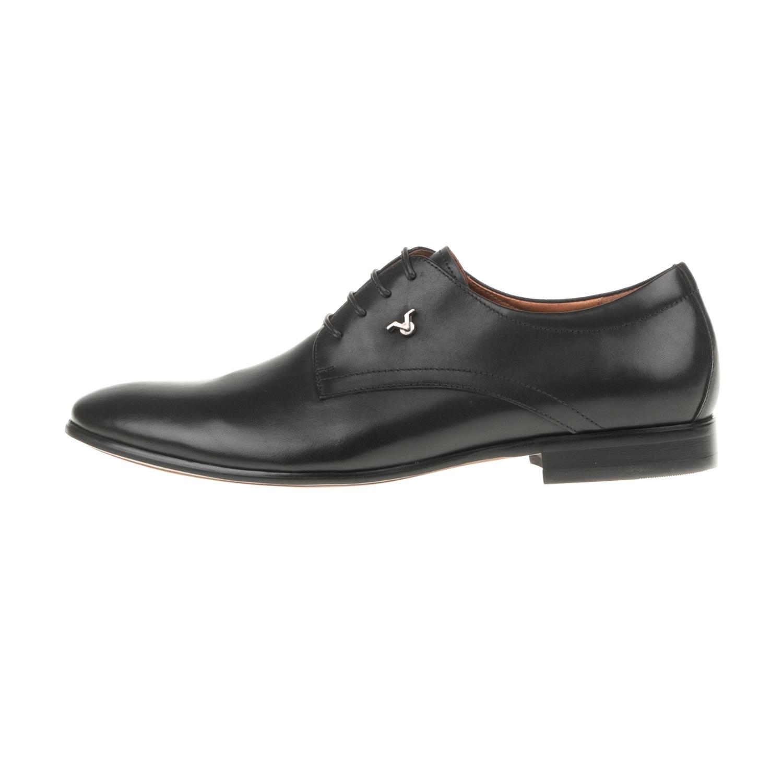 19V69 VERSACE 19.69 - Ανδρικά δετά παπούτσια WAXED19V69 VERSACE 19.69 μαύρα ανδρικά παπούτσια δετά επίσημα