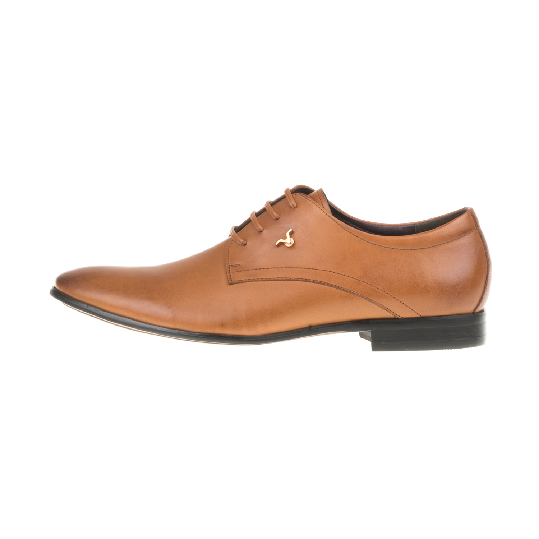 19V69 VERSACE 19.69 - Ανδρικά δετά παπούτσια WAXED19V69 VERSACE 19.69 καφέ ανδρικά παπούτσια δετά επίσημα