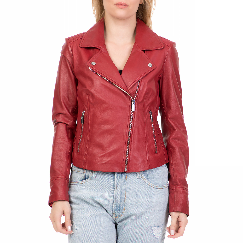 ARMA MAYS   ROSE – Γυναικείο δερμάτινο μπουφάν GOMERA Sheep Denvey κόκκινο e9b1bc37e8e