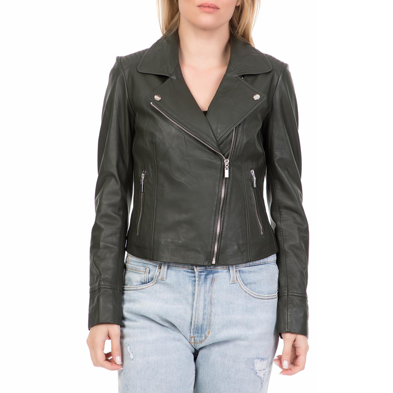 ARMA MAYS   ROSE – Γυναικείο δερμάτινο μπουφάν GOMERA Sheep Denvey πράσινο 20a41cbfc92
