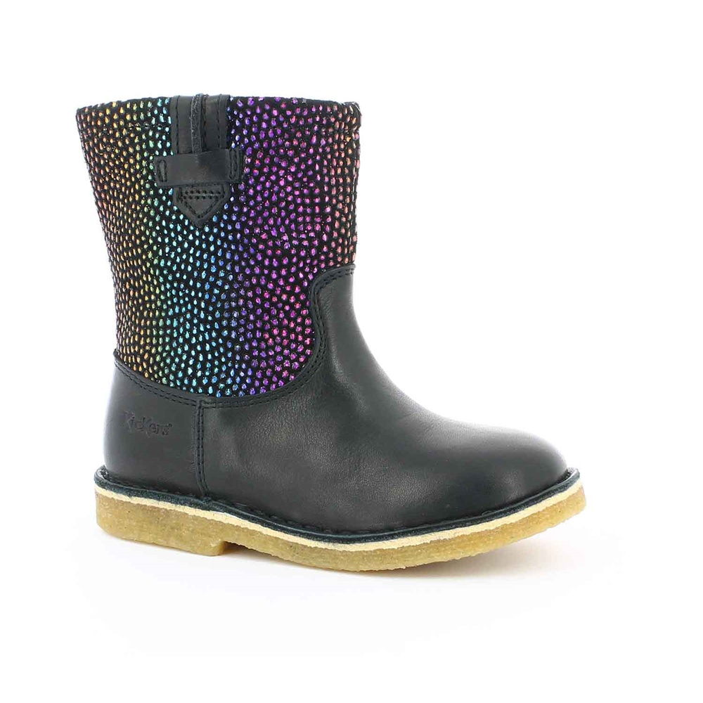 KICKERS - Παιδικές μπότες CRESSONA KICKERS μαύρες παιδικά girls παπούτσια μπότες μποτάκια