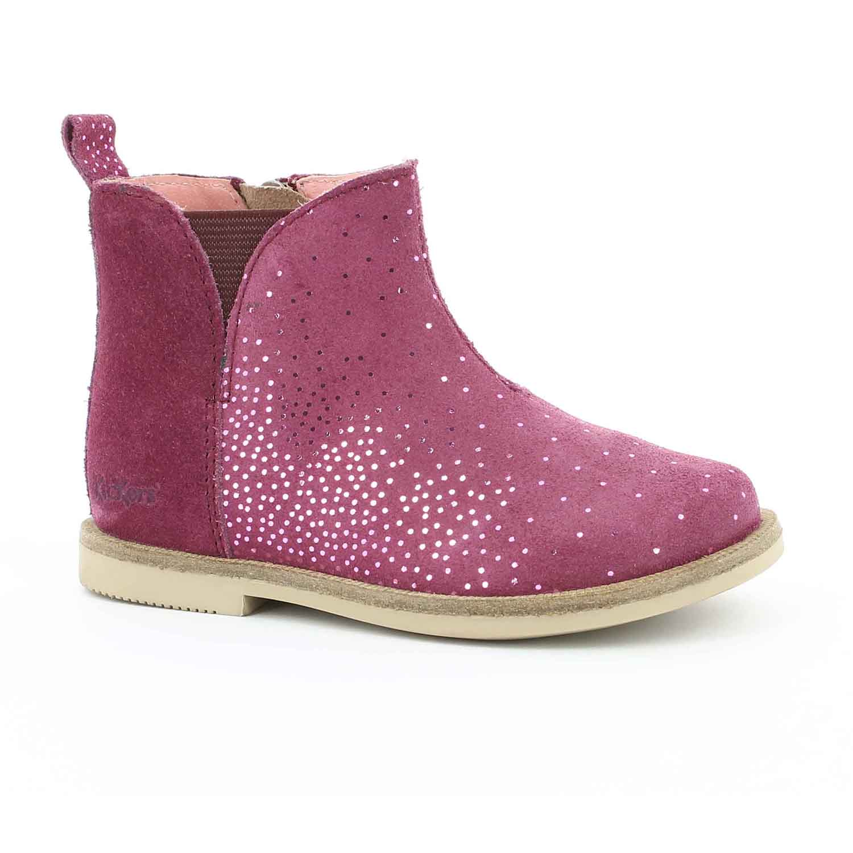 e1fe33a8f29 KICKERS - Βρεφικά μποτάκια MOOKY KICKERS ροζ ⋆ EliteShoes.gr