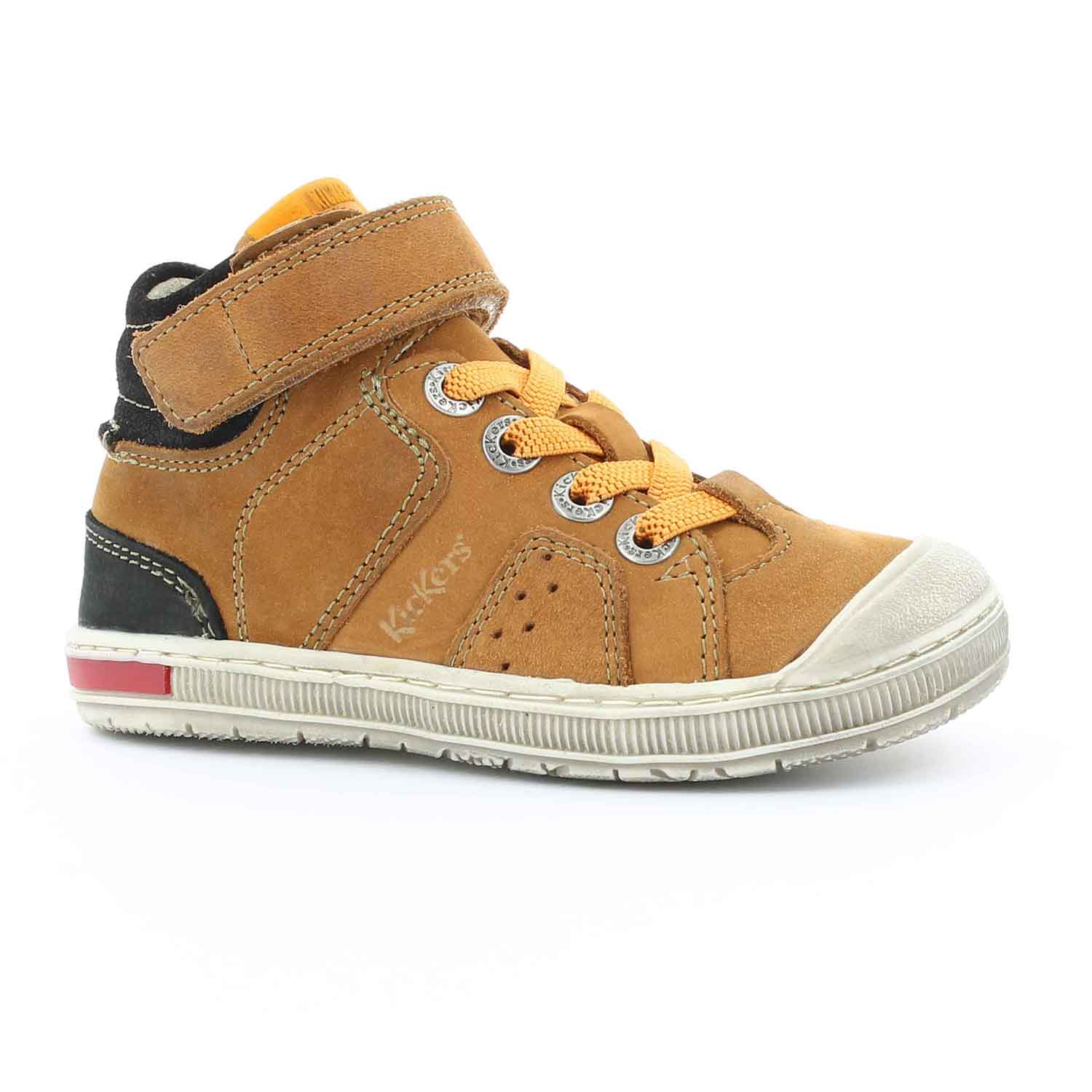 KICKERS - Παιδικά δερμάτινα μποτάκια IGUANE KICKERS καφέ - Roe Shoes ... f4ee412905e
