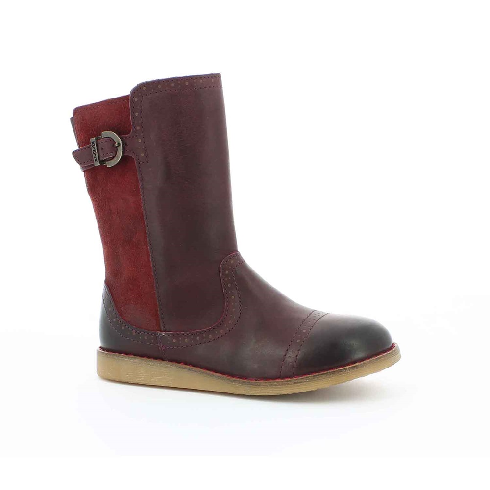 KICKERS – Παιδικές μπότες για κορίτσια FLAMME KICKERS μπορντό