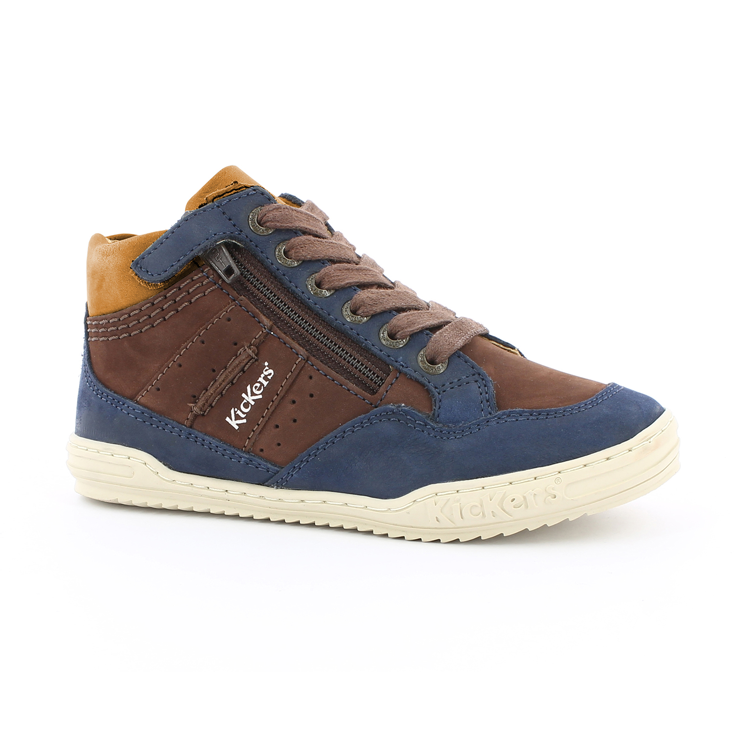 KICKERS - Παιδικά δερμάτινα μποτάκια JUSTICIER KICKERS καφέ - Roe ... b480d2f79ee