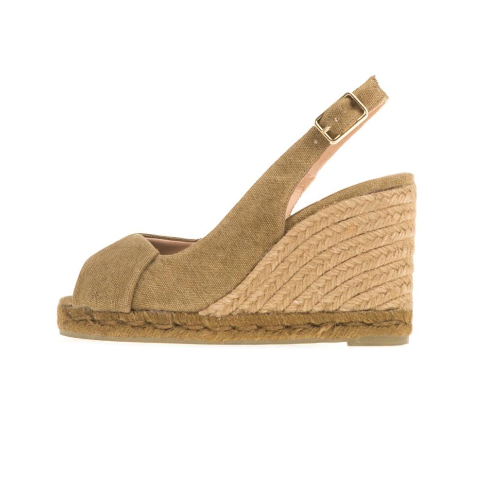 CASTANER - Γυναικείες peep-toe πλατφόρμες CASTANER BRIANDA χακί γυναικεία παπούτσια πλατφόρμες