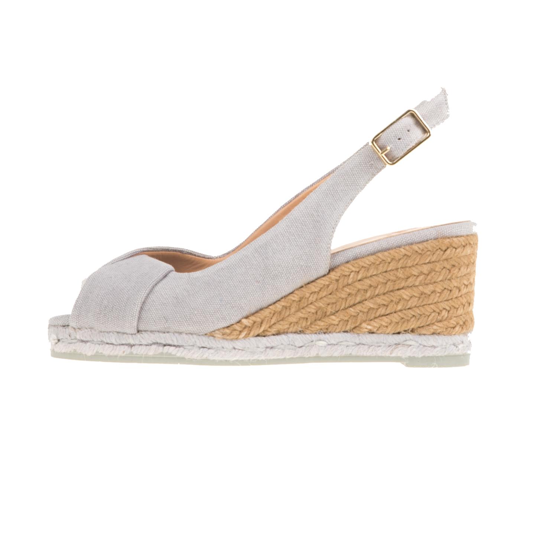 CASTANER - Γυναικείες peep-toe πλατφόρμες CASTANER BRIANDA γκρι γυναικεία παπούτσια πλατφόρμες