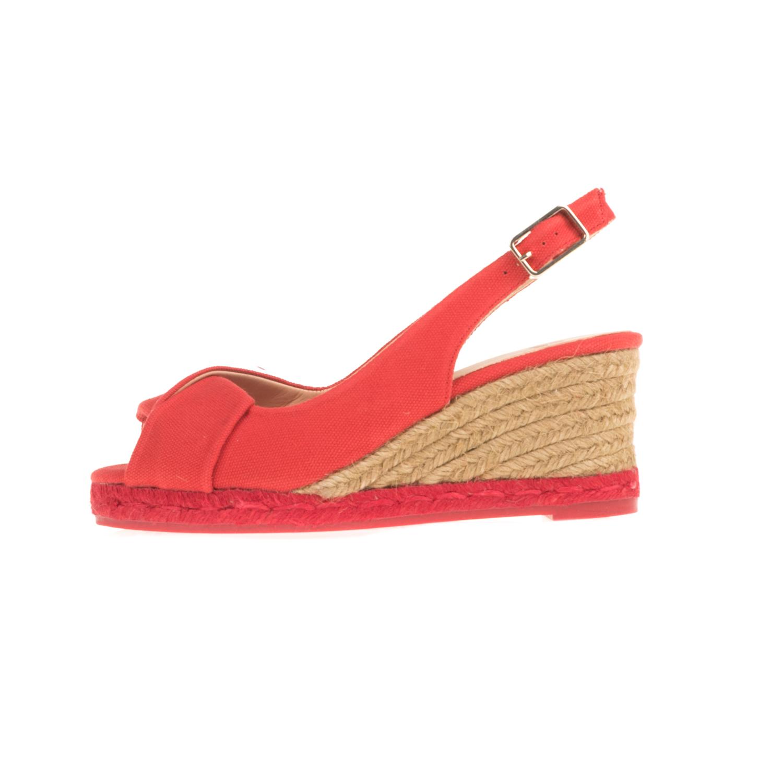 CASTANER - Γυναικείες peep-toe πλατφόρμες CASTANER BRIANDA κόκκινες γυναικεία παπούτσια πλατφόρμες
