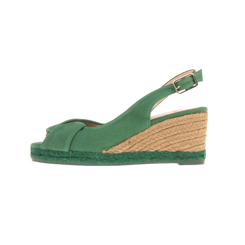 CASTANER - Γυναικείες peep-toe πλατφόρμες CASTANER BRIANDA πράσινες