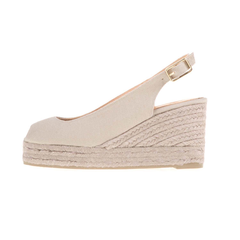 CASTANER - Γυναικείες peep-toe πλατφόρμες CASTANER BELI μπεζ γυναικεία παπούτσια πλατφόρμες
