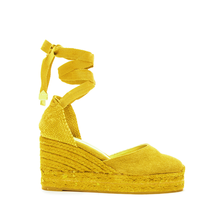 CASTANER – Γυναικείες πλατφόρμες CASTANER CARINA κίτρινες