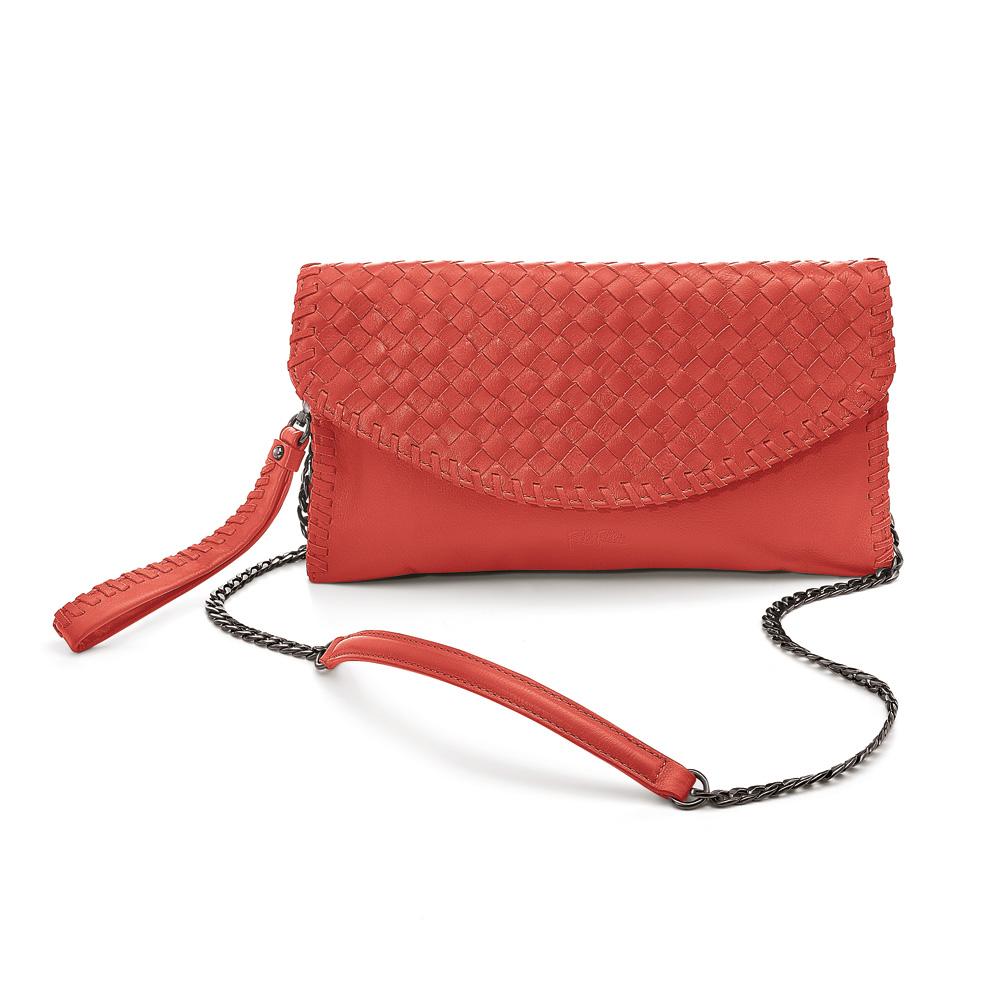 3689059250a FOLLI FOLLIE – Γυναικεία τσάντα χιαστί FOLLI FOLLIE TWIST TOGETHER κόκκινη  1728344.0-0000