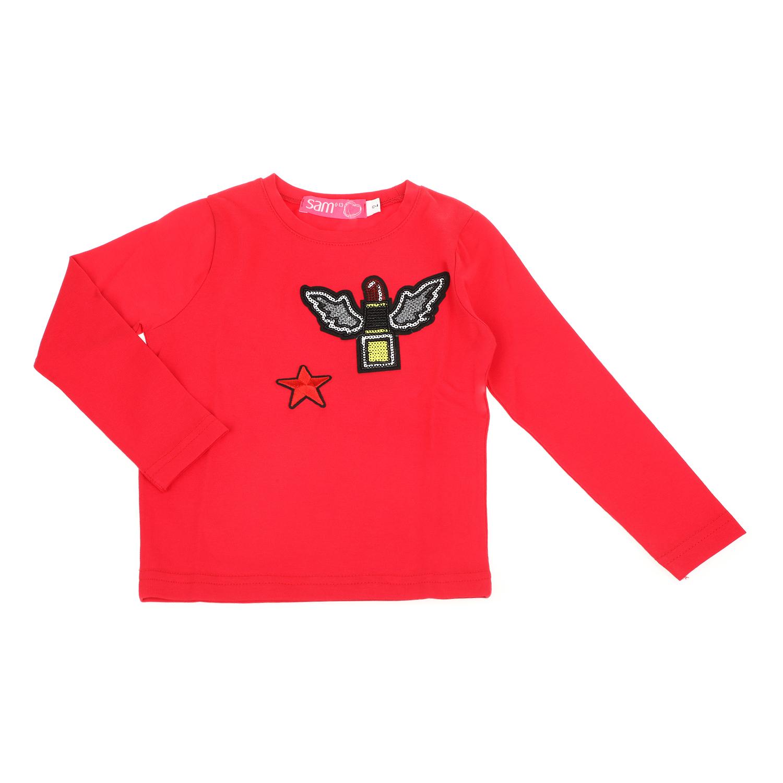 334d2f08e719 SAM 0-13 - Παιδική μακρυμάνικη μπλούζα για μικρά κορίτσια SAM 0-13 κόκκινη