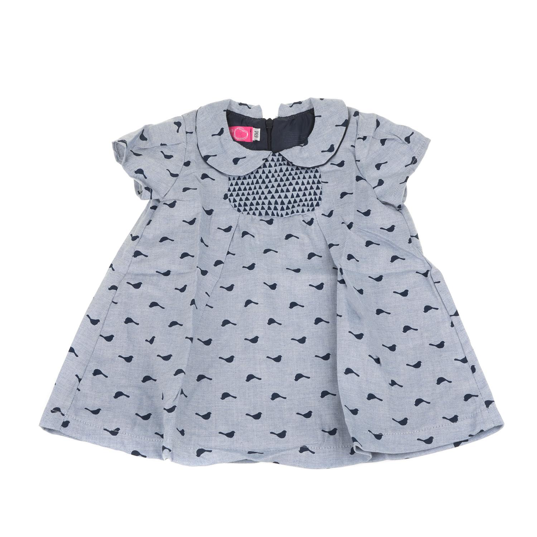 ab31e13174b -64% SAM 0-13 – Βρεφικό μακρυμάνικο φόρεμα SAM 0-13 γκρι με print