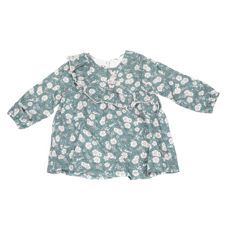 SAM 0-13 - Βρεφικό μακρυμάνικο φόρεμα με βολάν SAM 0-13 φλοράλ 738cc599571