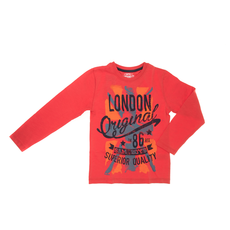 SAM 0-13 - Αγορίστικη μακρυμάνικη μπλούζα SAM 0-13 κόκκινη