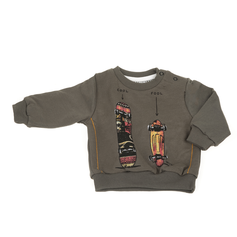 2e7c4bbb8e81 SAM 0-13 - Βρεφική φούτερ μπλούζα SAM 0-13 χακί ⋆ OaFashion.gr