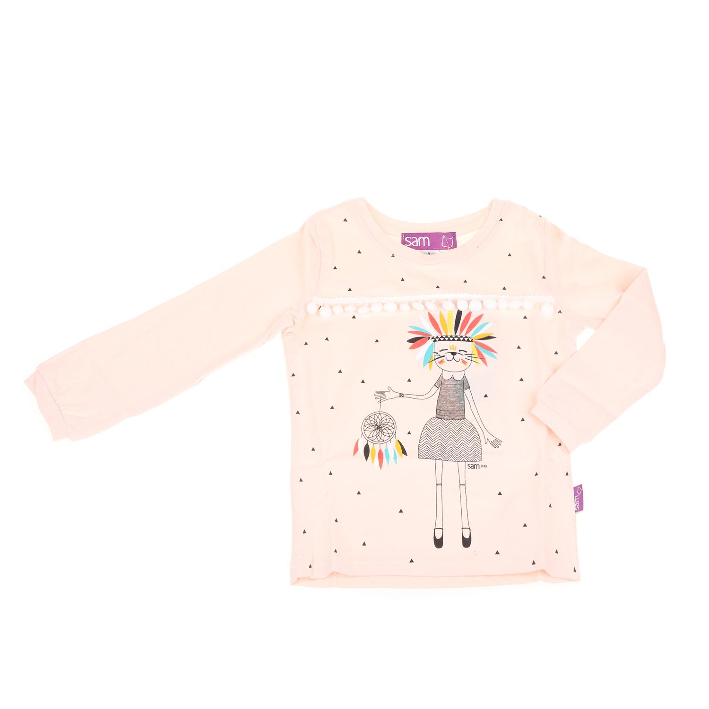 cf56a839e6a -50% SAM 0-13 – Παιδική μακρυμάνικη μπλούζα για μικρά κορίτσια SAM 0-13  σομόν