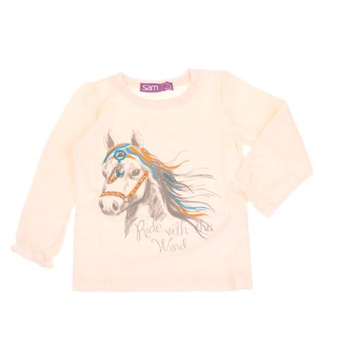 5e003d4a1dd1 Παιδική μακρυμάνικη μπλούζα για μικρά κορίτσια SAM 0-13 σομόν  (1728390.0-p500) | Factory Outlet