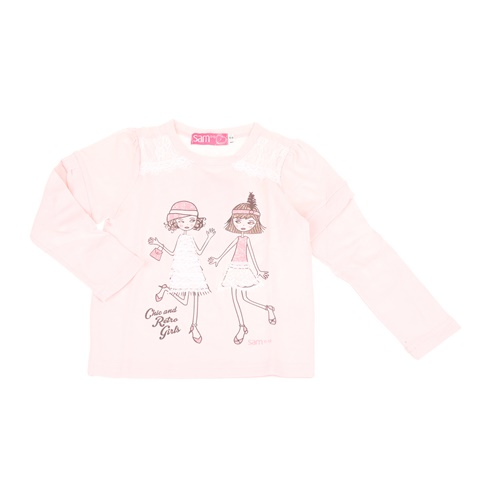 4966238733ea Παιδική μακρυμάνικη μπλούζα για μικρά κορίτσια SAM 0-13 ροζ  (1728403.0-p700) | Factory Outlet
