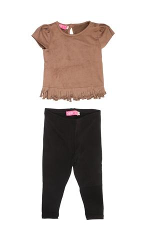 9f00a028b78 Παιδικό σετ με μπλούζα και κολάν SAM 0-13 καφέ-μαύρο (1728414.0-71k9) |  Factory Outlet