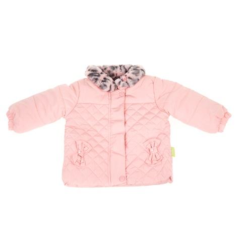 Βρεφικό μπουφάν με γουνάκι SAM 0-13 ροζ (1728415.0-p700)  24e4803a17a